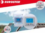 Euroster 813 napkollektor és puffer vezérlés